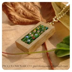 Klimt pendant 003 - piccolomosaico micromosaic